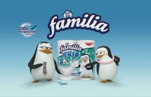Реклама Familia Trio — Туалетная бумага (Пингвины) (2020)